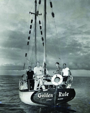 The Golden Rule sailed into the no-sail zone to protest nuclear testing.