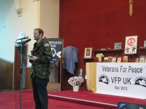 Ben Griffin on stage at VFP UK Public Launch
