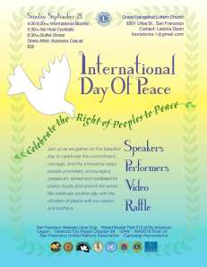 International Day of Peace, September 21