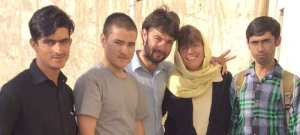 Afghan Peace Volunteer with Sherri Maurin