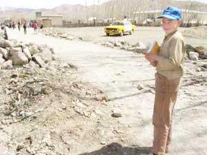 Zekerullah going to schoo in Bamiyan