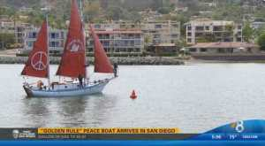 CBS8 coverage of the Golden Rule's arrival in San Diego